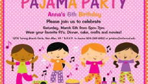 Pajama Party Invites Pajama Party Birthday Invitation Slumber by