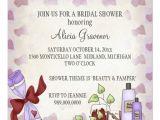 Pamper Baby Shower Invitations Bridal Shower Invitations Beauty & Pamper theme