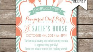 Pampered Chef Bridal Shower Invitations Pampered Chef Party Invitation Bridal Shower Invitation