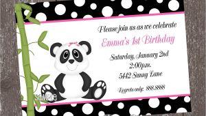 Panda Bear Birthday Party Invitations Panda Bear Birthday Invitations for Boy or Girl