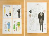 Paper Dolls Wedding Invitations Creative Ideas for Wedding Invitations Printingdeals org