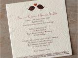 Paper Type Wedding Invitation 2 Little Birds Seeded Paper Wedding Invitation Little