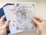 Paper Type Wedding Invitation Diy Translucent Wedding Invitation with Vintage Charm