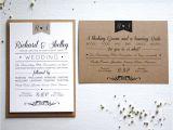 Paper Type Wedding Invitation Elegant Type Vintage Wedding Invitation by Rodo Creative
