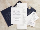 Paper Type Wedding Invitation Navy and Silver Hand Painted Wedding Invitations