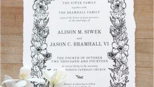 Paper Type Wedding Invitation Wedding Stationery Alison Jason Just My Type