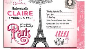 Paris themed Party Invitations Free 5 Best Images Of Paris themed Birthday Party Free