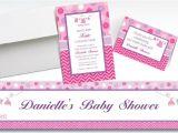 Party City Baby Shower Invitations Girl Custom Shower with Love Girl Baby Shower Invitations