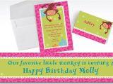 Party City Custom Birthday Invitations Custom Monkey Love Invitations Thank You Notes Party City