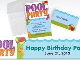 Party City Custom Birthday Invitations Custom Pool Party Invitations Thank You Notes Party City