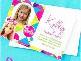 Party City Custom Invites Custom Barbie Invitation Thank You Idea Party City