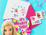 Party City Girl Birthday Invitations Barbie Invitation with Surprise Idea Party City
