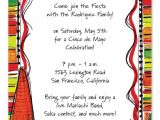 Party Invitation Border Templates Mexican Fiesta Party Invitations by Invitation