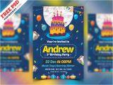 Party Invitation Card Template Psd Birthday Party Invitation Card Psd by Psd Freebies
