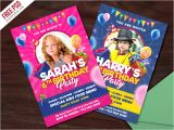 Party Invitation Card Template Psd Kids Birthday Party Invitation Card Psd by Psd Freebies