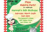 Party Invitation Cards Making Pizza Making Birthday Party Invitation Card Zazzle