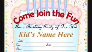 Party Invitation Cards Online Free 63 Printable Birthday Invitation Templates In Pdf