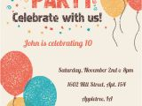 Party Invitation Cards Online Free Celebrate with Us Birthday Invitation Template Free