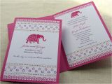 Party Invitation Cards Online India Indian Invitation Decorated Elephant Booklet Shower