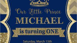 Party Invitation Cards Royal Prince Birthday Party Invitation First Birthday Royal