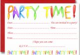 Party Invitation Cards Uk Free Birthday Party Invites for Kids Free Printable
