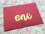 Party Invitation Cards with Envelopes 15 One Stickers 1st Birthday Invitation Seal Gold Envelope