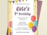 Party Invitation Email Templates Free Free Email Birthday Invitation Template Word Psd