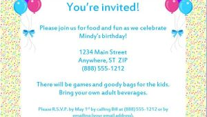 Party Invitation Letter Template formal Invitation Letter Birthday Party Invitation