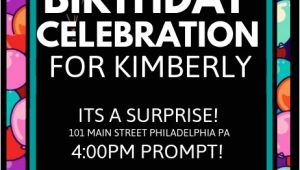 Party Invitation Poster Template Copy Of Birthday Invitation Postermywall