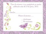 Party Invitation Reply Template Purple Spanish butterfly Response Card Mami 39 S 80 Birthdy