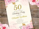 Party Invitation Template Adobe Anniversary Birthday Party Invitation Template Edit with