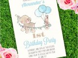 Party Invitation Template Adobe Elephant Birthday Party Invitation Template Edit with