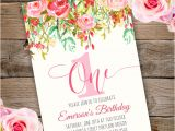 Party Invitation Template Adobe First Birthday Party Invitation Template Edit with Adobe