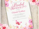 Party Invitation Template Adobe Floral Bridal Shower Invitation Template Edit with Adobe