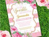 Party Invitation Template Adobe Girl Birthday Party Invitation Template Edit with Adobe