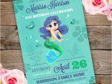 Party Invitation Template Adobe Mermaid Birthday Party Invitation Template Edit with