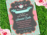 Party Invitation Template Adobe Tea Party Girl Birthday Invitation Template Edit with