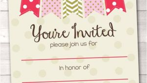 Party Invitation Template Blank Items Similar to Fill In Blank Party Invitations Printable