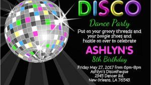 Party Invitation Template Disco 17 Disco Party Invitation Designs Templates Psd Ai