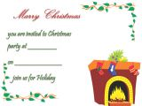 Party Invitation Template .doc Christmas Party Invitation Template Free Printable