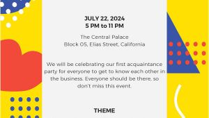 Party Invitation Template for Email 15 Email Invitation Template Free Sample Example
