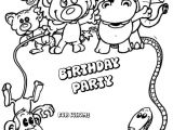 Party Invitation Template for Pages Animals Birthday Party Invitation Coloring Pages