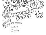 Party Invitation Template for Pages Bears Birthday Party Invitation Coloring Pages