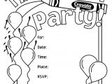 Party Invitation Template for Pages Birthday Party Invitations Coloring Page Crayola Com