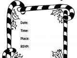 Party Invitation Template for Pages Christmas Party Invitation Candy Canes Coloring Page