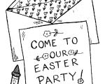 Party Invitation Template for Pages Color Sheets for Easter Easter Party Invitation