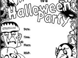 Party Invitation Template for Pages Halloween Invitation Coloring Page Crayola Com