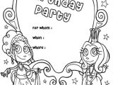 Party Invitation Template for Pages Happy Birthday Party Invitation Coloring Page Color Luna