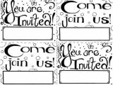 Party Invitation Template for Pages Invitation Coloring Page Free Printable Cards for Kids