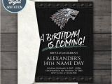Party Invitation Template Game Of Thrones Game Of Thrones Digital Birthday Party Invitation Game Of